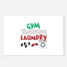 GYM TANNING LAUNDRY Postcards (Package of 8)