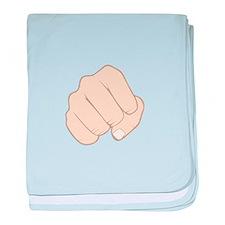 Fist Pump baby blanket