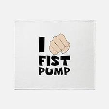 I FIST PUMP Throw Blanket