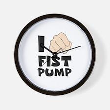 I FIST PUMP Wall Clock