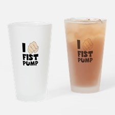 I FIST PUMP Drinking Glass