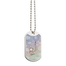 sweet bunny with Dog Tags