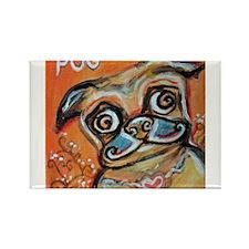 Pug Smile Love Pop Art Painting by Angie Ketelhut