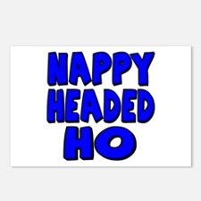 Nappy Headed Ho Blue Design Postcards (Package of