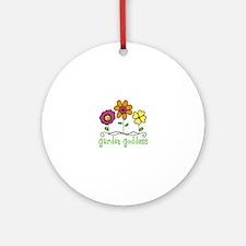 Garden Goddess Ornament (Round)