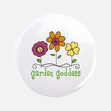 "Garden Goddess 3.5"" Button"