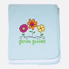 Garden Goddess baby blanket
