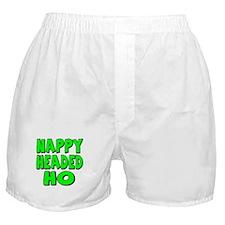 Nappy Headed Ho Green Design Boxer Shorts