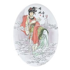 Chinese Moon Goddess Ornament (Oval)