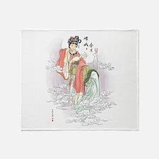 Chinese Moon Goddess Throw Blanket