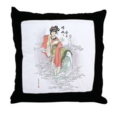 Chinese Moon Goddess Throw Pillow