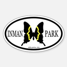 Inman Park Oval Decal