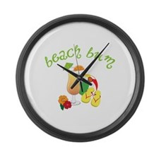 beach bum Large Wall Clock