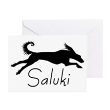 Art Deco Saluki Greeting Cards (Pk of 10)