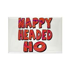 Nappy Headed Ho Hypnotic Design Rectangle Magnet (