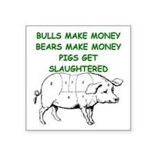 pigs get slaughtered Sticker