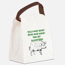 pigs get slaughtered Canvas Lunch Bag