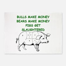 pigs get slaughtered 5'x7'Area Rug