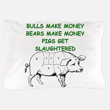 pigs get slaughtered Pillow Case