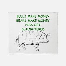 pigs get slaughtered Throw Blanket
