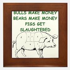 pigs get slaughtered Framed Tile