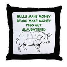 pigs get slaughtered Throw Pillow