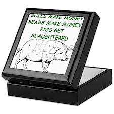 pigs get slaughtered Keepsake Box