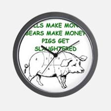 pigs get slaughtered Wall Clock