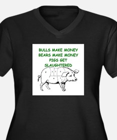 pigs get slaughtered Plus Size T-Shirt
