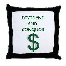dividends Throw Pillow