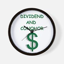 dividends Wall Clock