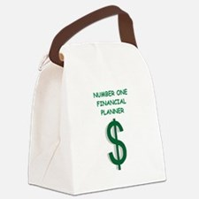 financial planning Canvas Lunch Bag