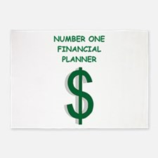 financial planning 5'x7'Area Rug