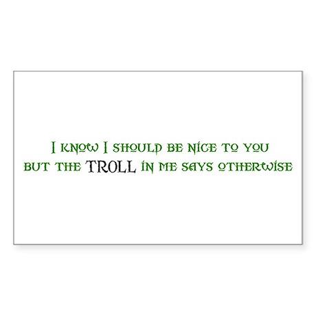 Nice Troll Rectangle Sticker