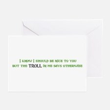 Nice Troll Greeting Cards (Pk of 10)
