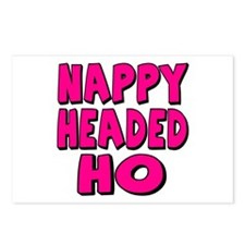 Nappy Headed Ho Pink Design Postcards (Package of