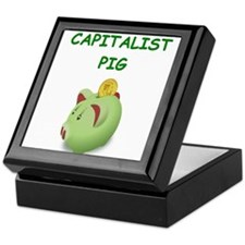 capitalist pig Keepsake Box