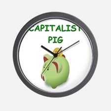 capitalist pig Wall Clock
