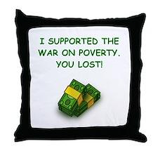 war on poverty Throw Pillow
