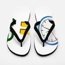 time is money Flip Flops