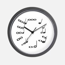 music notes on Wall Clock