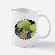 Close Up Frog on Lily Pad Mug