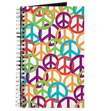 Colorful Peace Symbols Journal