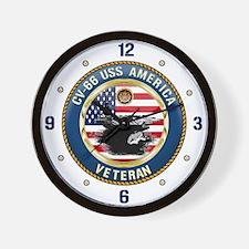 CV-66 USS America Wall Clock