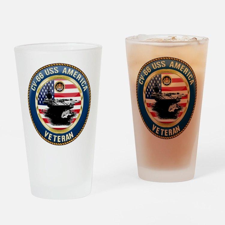 CV-66 USS America Drinking Glass
