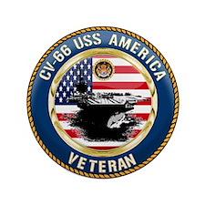 "CV-66 USS America 3.5"" Button (100 pack)"