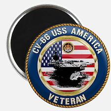 """CV-66 USS America 2.25"""" Magnet (100 pack)"""