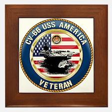 CV-66 USS America Framed Tile