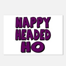 Nappy Headed Ho Purple Design Postcards (Package o