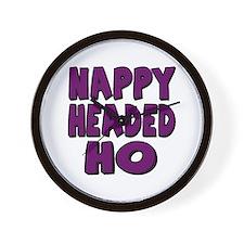 Nappy Headed Ho Purple Design Wall Clock